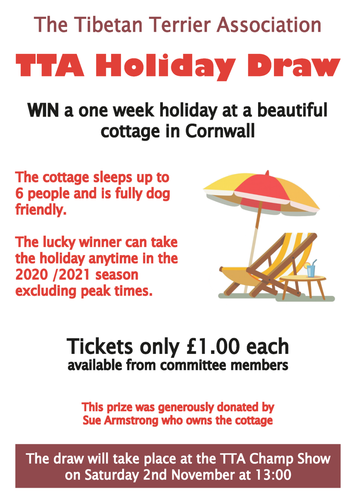 Prize draw poster s